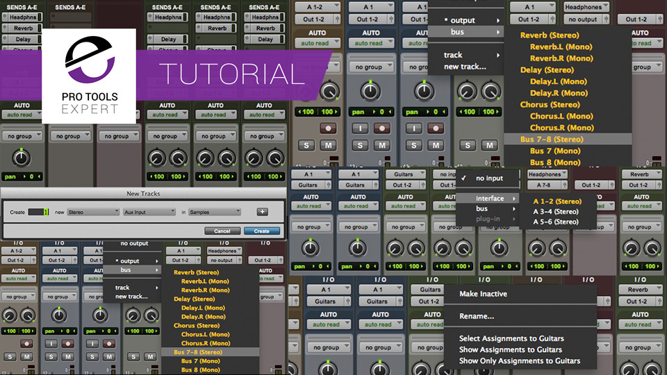 The Benefits of Using Different Track Types in Pro Tools